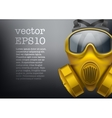 Background of safe chemical antiviral gas mask vector image