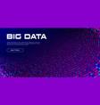 big data visualization big data tunnel stream of vector image vector image