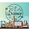 Chemistry Bulb Infographic for science concept vector image vector image