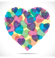 colorful heart make big heart vector image vector image