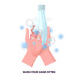 coronavirus protection concept wash your hands vector image