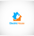 electric house company logo vector image