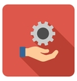 Engineering Service Flat Rounded Square Icon with vector image vector image