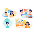 flat design concepts education vector image
