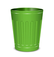 green garbage can vector image