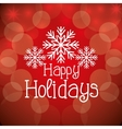 Happy holidays christmas design vector image