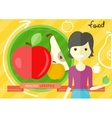 Healthy lifestyle foods concept vector image