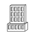 hotel building icon monochrome dotted silhouette vector image vector image