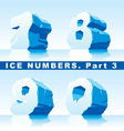 ice numbers Part 3 vector image vector image