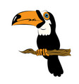 Illstration of a bird the toucan sitting on a