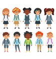 international school kids vector image