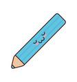 kawaii color pencil icon vector image vector image