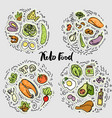 keto food ketogenic healthy food sketch vector image