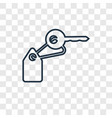 key concept linear icon isolated on transparent vector image