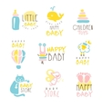 Kids Shop Promo Signs Series Of Colorful vector image vector image