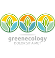leaves green ecology circle design vector image vector image