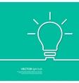 Light bulb idea concept template vector image vector image