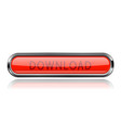 long red download button with bold chrome frame vector image vector image