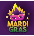 Mardi Gras Logo Poster Carnival type treatment vector image vector image