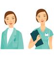 medicine woman vector image vector image