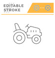 mini tractor line icon vector image