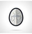 MRI of brain flat icon vector image vector image