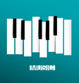 Music Symbol - Piano and Keybord vector image vector image