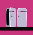 old refrigerator fridge 60s style vector image