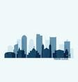 phoenix skyline with buildings vector image vector image