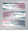 pink green banner design web header template vector image vector image