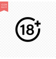 plus 18 years movie icon simple flat style vector image vector image