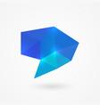 polygonal speech bubble vector image vector image