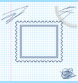 postal stamp line sketch icon isolated on white vector image vector image