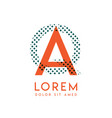qa modern logo design with orange and green color vector image vector image