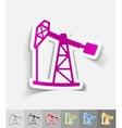 realistic design element oil pump vector image