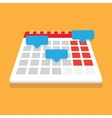 Record in the calendar with reminders vector image vector image