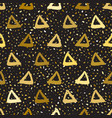seamless pattern triangles vector image vector image