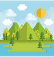 seasonal weather landscape icon vector image vector image