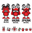 see no evil hear no evil speak no evil robot vector image