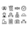 set icons oil line style icon vector image vector image