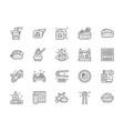set japanese food line icons ginger temaki