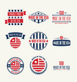 set labels logo badges and signs made vector image vector image