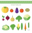 Set vegetables in flat vector image