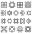 Set vintage geometric ornaments vector image