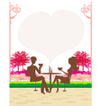 silhouette of a man and woman drink coffee vector image vector image
