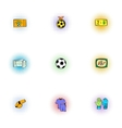 Soccer icons set pop-art style vector image vector image