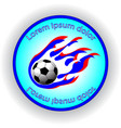 soccer team blue logo in abstract style vector image vector image