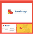 socks logo design with tagline front and back vector image vector image