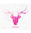 stylized deer head with pink triangles design vector image vector image