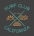 surfing design california with the image vector image vector image